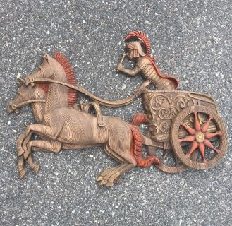 Burwood Roman chariot statement wall art - 1970s