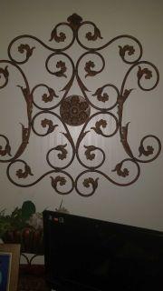 Rod iron wall fixture