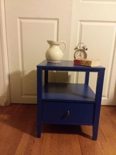 End Table, Tray and pictures