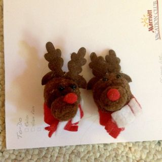 Reindeer Pierced Earrings