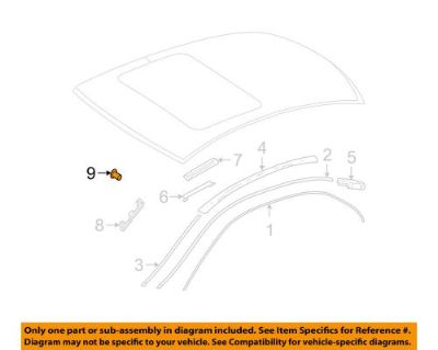 Sell Mercedes MERCEDES-BENZ OEM E320 Windshield-Upper Molding Rivet 910001003101 motorcycle in Shrewsbury, Massachusetts, United States, for US $5.40