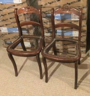 2 Vintage Wood Dining Room Chair Frames