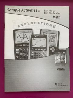 Book Texas instruments sample science activities TI-84 Plus and TI-83 Plus Families Math Explorations