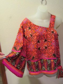 NWT CHICOS ONE COLD SHOULDER TOP SIZE CHICOS 0 1