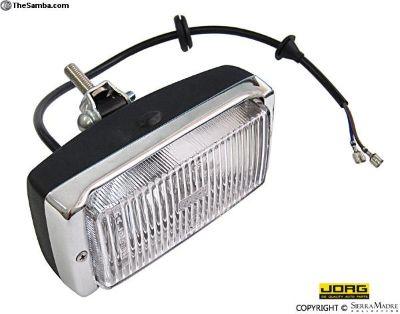 Fog Light, Chrome/Black, 911/Carrera/930 (74-83)