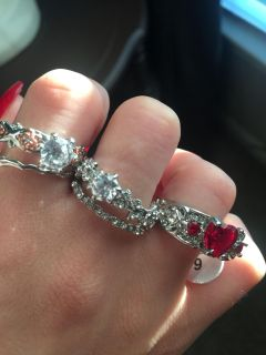 Sterling silver rings size 9 all for $15.00