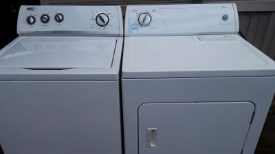 Whirlpool set washer and electric dryer for sale