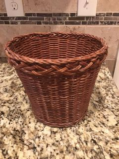 EUC wicker plant basket or trash or miscellaneous basket