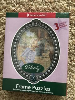 New! American Girl puzzles with frame.