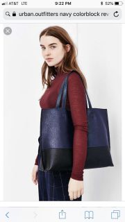 Urban Outfitters Reversible Navy And Black tote