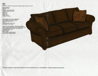 Bassett Sofa, Loveseat