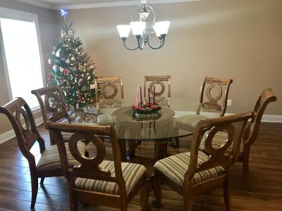 Dining table and server