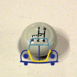 Beetle - Ghia - Bus Shifter Knob W/Shift Pattern