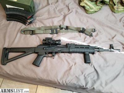 For Sale: Century Arms RAS47 w/ Krebs trigger retainer plate & Full magpul furniture, M-LOK sling system w/ sling & Vortex Red Dot (details in description)