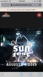 Sunfest stage pit ticket for sale