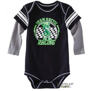Sell Arctic Cat Infant Team Arctic Racing Long Sleeve Onesie - Lime - 5263-27_ motorcycle in Sauk Centre, Minnesota, United States, for US $13.99