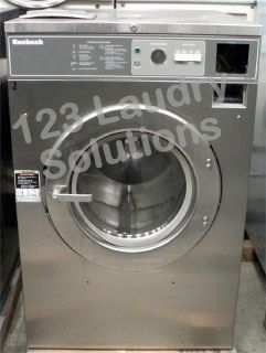 Good Condition Huebsch Front Load Washer 208-240v Stainless Steel HC40MY2OU60001 Used
