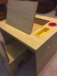 Toddlers Wooden Activity Desk and Chair