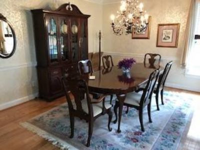 Dining Room Set (11 Pieces) - Solid Wood - Cherry Finish