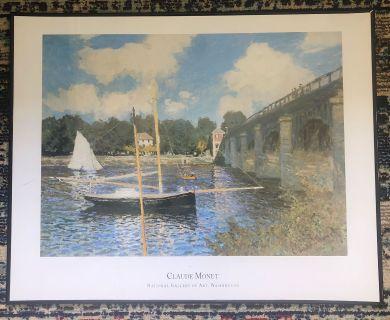 Claude Monet poster framed