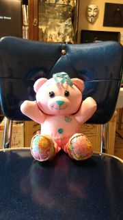 """11"""" Doodle Bear plush. Use washable fabric markers on bear to draw and write Ave online price is $10.00. Asking $5.00"""