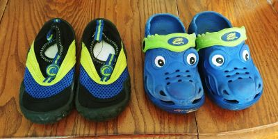 Water shoes and crocs
