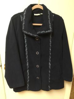 Denim and Company fleece jacket very warm navy blue excellent condition smoke-free pet free home