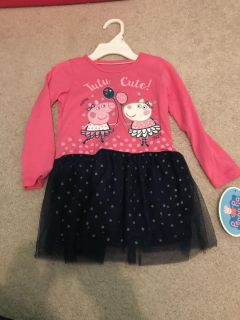 NWT Peppa Pig Dress Size 2T GIFTABLE
