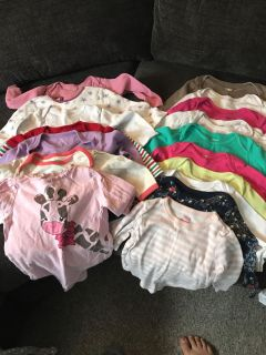 17 long sleeve onesie. 12 and 12-18 month.