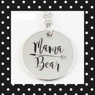 MAMA BEAR silver pendant necklaces with 18 chain, $3 each!
