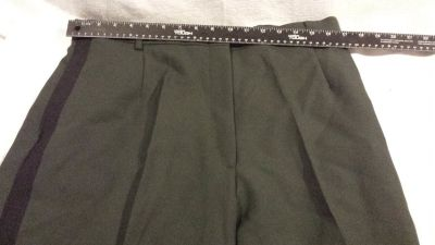 womens army green 491 officers polyester 18mr class a vintage slacks pants 02462