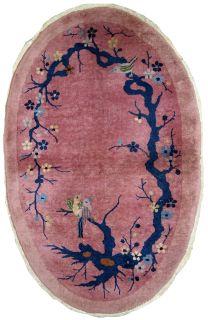 Handmade antique Art Deco Chinese rug, 1B631