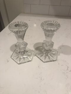 Waterford candle sticks