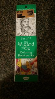 set of 5 the wizard of Oz coloring book marks