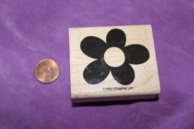 Stampin' Up! Wooden Rubber Stamp: Flower