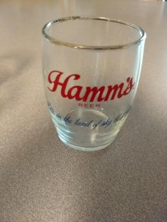 Hamm's beer chaser glass