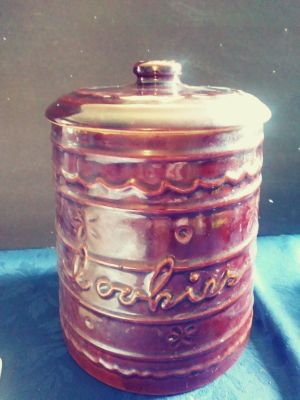 Gingerbread brown cookie jar