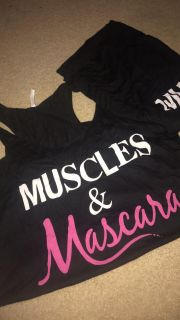 Muscles and mascara tank NWOT Large