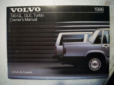 Buy 1986 Volvo 740 Turbo & GL & GLE Owner's Manual. Good Cond. Clear no owner info. motorcycle in Perris, California, United States, for US $17.50