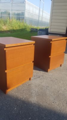 Two Ikea Malm End Tables