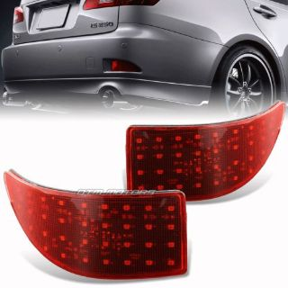 Find Red Lens Rear Bumper Reflector LED Brake Lights For 06-13 Lexus IS250 IS350 motorcycle in Rowland Heights, California, United States
