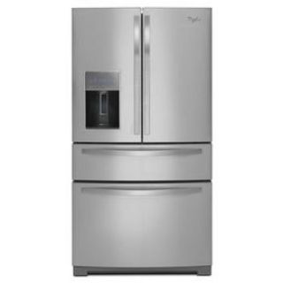 "Whirlpool Stainless 36"" 4-Door Refrigerator 26 cu. ft. *Closeout* WRX988SIBM"