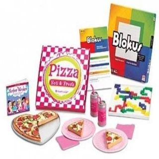 AMERICAN GIRL PIZZA PARTY SET FOR DOLLS FOOD BRAND NEW IN BOX RETIRED