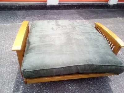 Wood Futon with Bench