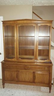 $525, Antique solid wood china cabinet  great condition