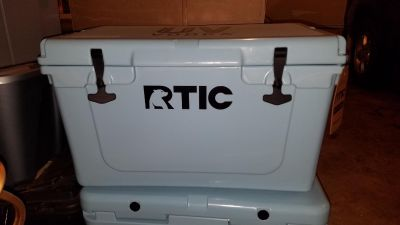 New, RTIC Blue 45 Cooler. Keeps food/ice for up to 10 days. New, Never used.