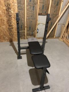 Golds Gym Bench only, no weights, no bar