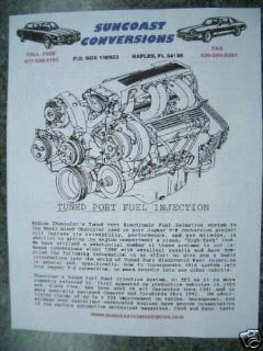 Buy TPI MANUAL CORVETTE CAMARO STREET ROD FUEL INJECTION--DETAILED TPI INFORMATION motorcycle in Naples, Florida, United States, for US $34.95