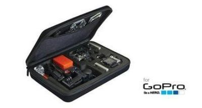 Custom case for GoPro Hero 1, 2, 3 and 4 black/silver action camera