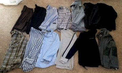 13 Mens size large and xlarge shirt lot